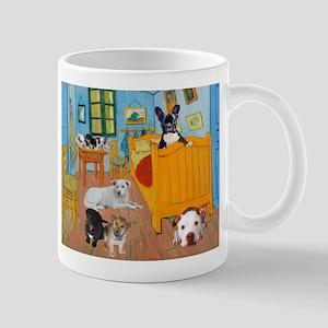 Cute Dogs in Van Goug's Bedroom v1 Mugs