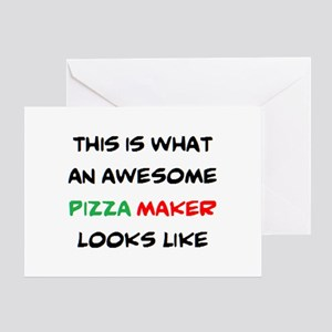 awesome pizza maker Greeting Card
