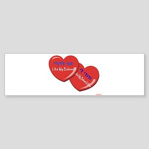 HEBREW I AM MY BELOVED Bumper Sticker