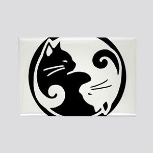 Yin Yang Cats: Magnets