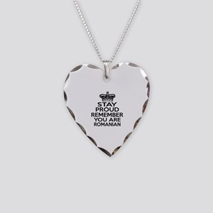 Stay Proud Remember You Are R Necklace Heart Charm