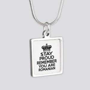 Stay Proud Remember You Ar Silver Square Necklace