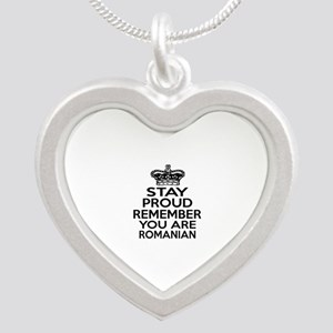 Stay Proud Remember You Are Silver Heart Necklace