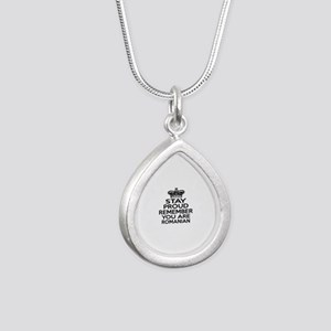 Stay Proud Remember You Silver Teardrop Necklace