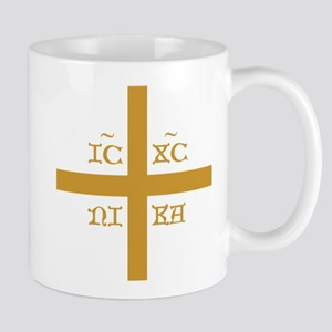 ICXC NIKA Orange for Black Polo Mugs