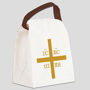 ICXC NIKA Orange for Black Polo Canvas Lunch Bag