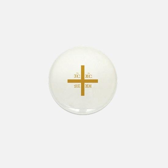 ICXC NIKA Gold Jesus Christ Cross Symb Mini Button