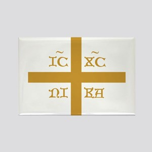 ICXC NIKA Gold Jesus Christ Cross Symbol O Magnets