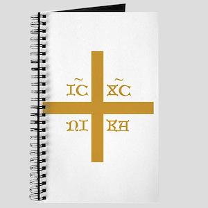 ICXC NIKA Gold Jesus Christ Cross Symbol O Journal
