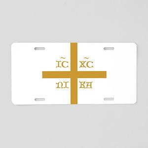 ICXC NIKA Gold Jesus Christ Aluminum License Plate