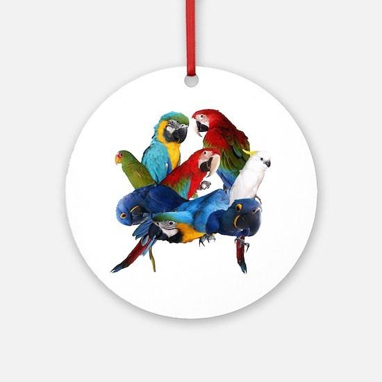 Parrots Round Ornament