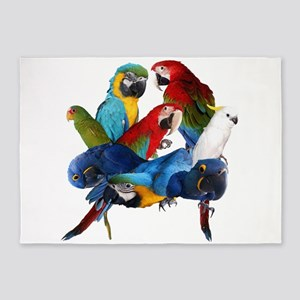 Parrots 5'x7'Area Rug