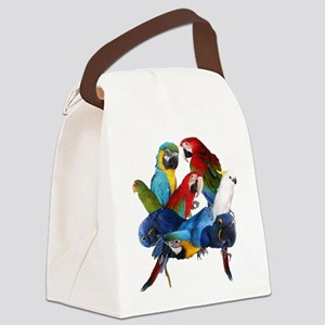 Parrots Canvas Lunch Bag