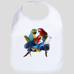 Parrots Baby Bib