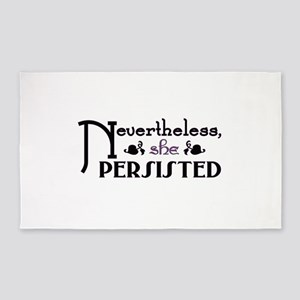 Nevertheless She Persisted Area Rug