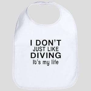 Diving It Is My Life Bib
