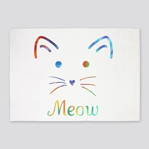 Meow 5'x7'Area Rug