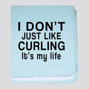 Curling It Is My Life baby blanket