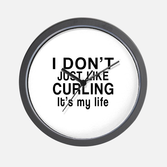 Curling It Is My Life Wall Clock