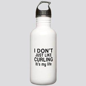 Curling It Is My Life Stainless Water Bottle 1.0L