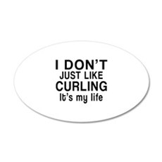 Curling It Is My Life Wall Decal