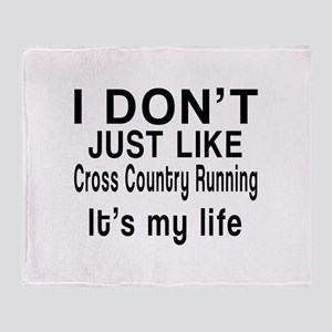 Cross Country Running It Is My Life Throw Blanket