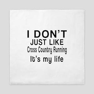 Cross Country Running It Is My Life Queen Duvet