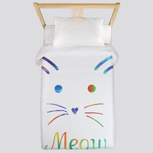 Meow Twin Duvet Cover