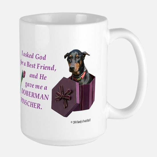 Doberman Mug (Black,Tan) Mugs