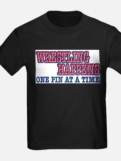 Wrestling Happens Ash Grey T-Shirt