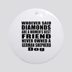 Awesome German Shepherd Dog Designs Round Ornament