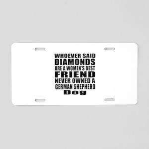Awesome German Shepherd Dog Aluminum License Plate