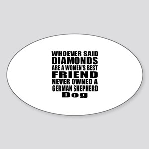Awesome German Shepherd Dog Designs Sticker (Oval)