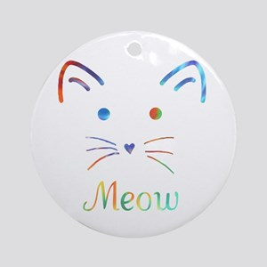 Meow Round Ornament