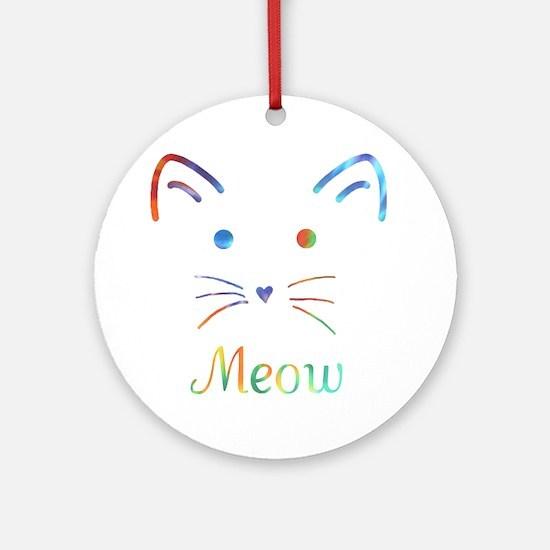 Meow Round Ornament