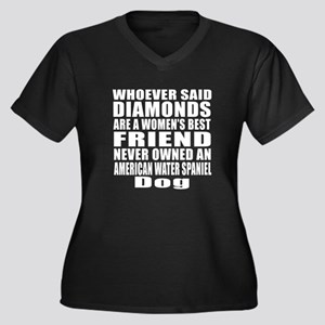 Awesome Amer Women's Plus Size V-Neck Dark T-Shirt