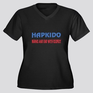 Hapkido Begi Women's Plus Size V-Neck Dark T-Shirt