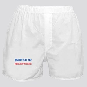 Hapkido Begins and end with respect Boxer Shorts