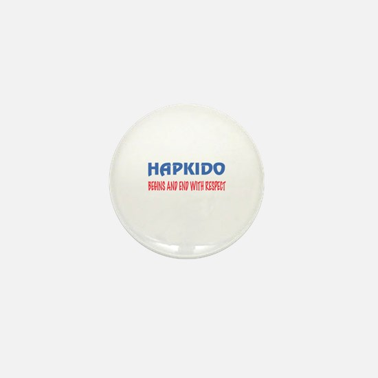 Hapkido Begins and end with respect Mini Button