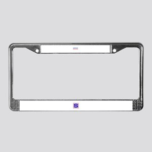 Hapkido Begins and end with re License Plate Frame