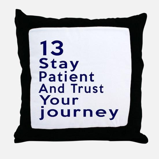 Awesome 13 Birthday Designs Throw Pillow