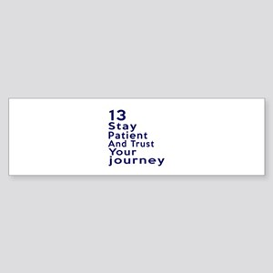 Awesome 13 Birthday Designs Sticker (Bumper)