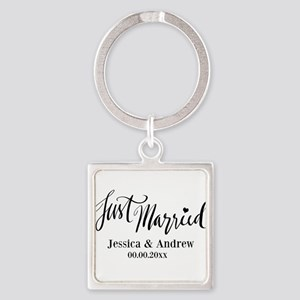 Just Married custom wedding Keychains