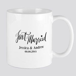 Just Married Custom Wedding Mugs For Newlyweds