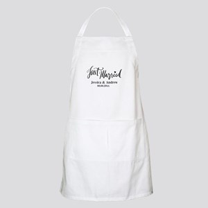 Just Married Custom Wedding Apron For Newlyweds