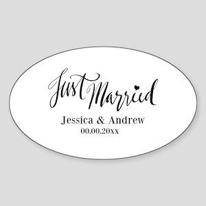 Just Married custom wedding Sticker