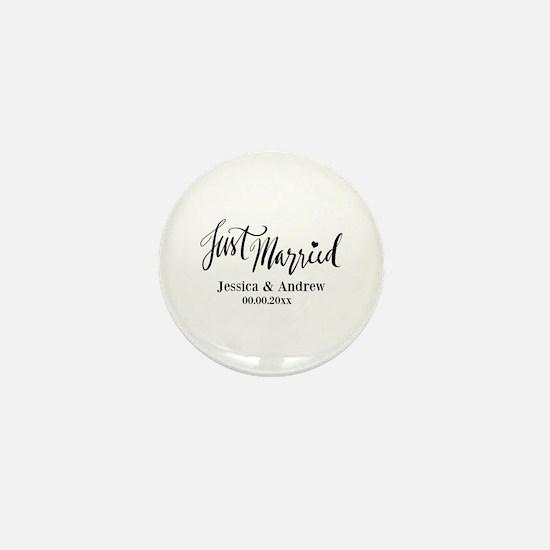 Just Married custom wedding Mini Button