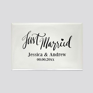 Just Married custom wedding Magnets