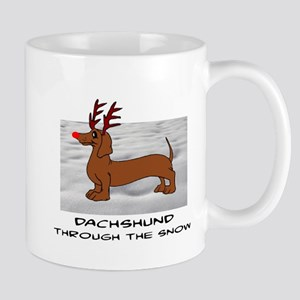 DACHSHUND THROUGH THE SNOW - DOGS Mugs