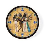 Nubian Musicians Egyptian Wall Clock